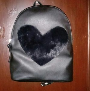 Handbags - *SOLD* Cute Black Heart Book Bag